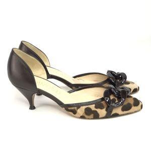 Joan & David Leopard Cheetah Print Pumps size 6.5